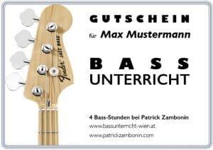 Bassunterricht Wien gutschein einzelunterricht ermäßigt