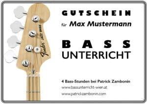 Bassunterricht Wien gutschein einzelunterricht regulär