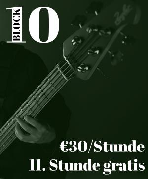 Bassunterricht Wien 10er-Block ermäßigt