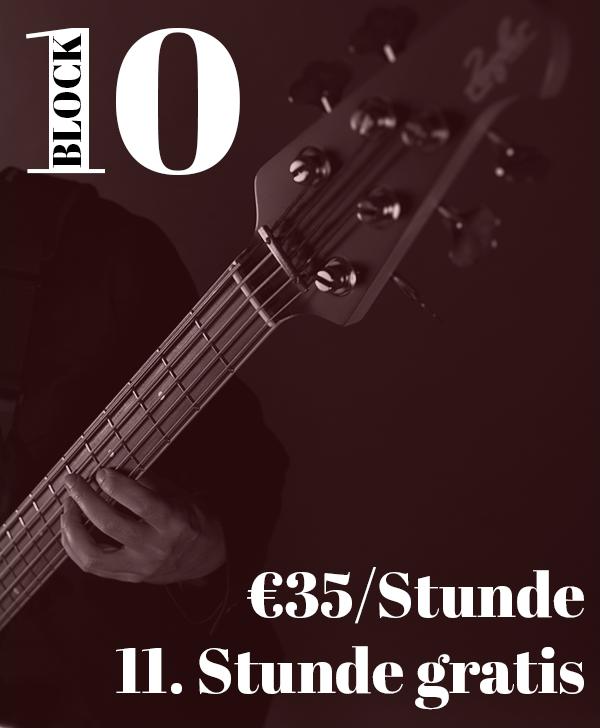 Bassunterricht Wien 10er-Block