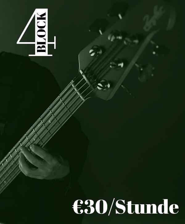 Bassunterricht Wien 4er-Block ermäßigt