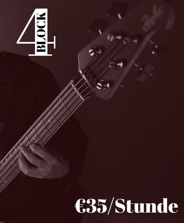 Bassunterricht Wien 4er-Block